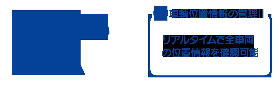 リアルタイムで全車の位置情報を確認可能。